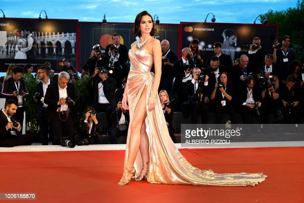 Model Bruna Marquezine arrives for the premiere of the film The Sisters Brothers presented in competition on September 2 2018 during the 75th Venice...
