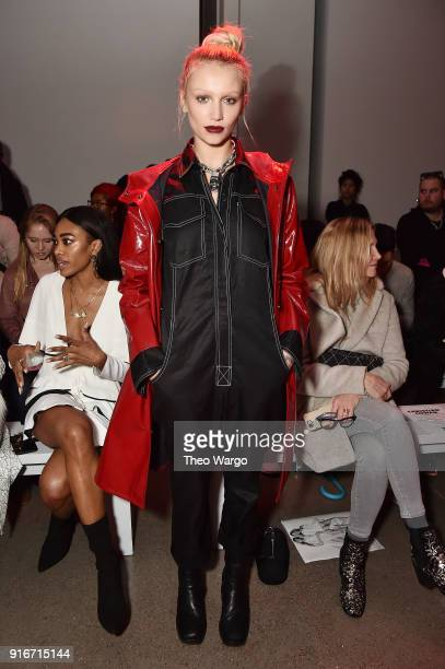 Model Cailin Russo attends the Christian Cowan fashion show during New York Fashion Week The Shows at Gallery II at Spring Studios on February 10...