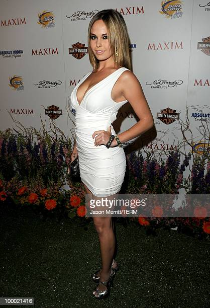 Model Caite Upton arrives at the 11th annual Maxim Hot 100 Party with HarleyDavidson ABSOLUT VODKA Ed Hardy Fragrances and ROGAINE held at Paramount...