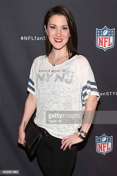 Model Caitlin Kelly attends the NFL Inaugural Hall of Fashion Launch Event at Pillars 37 on September 16 2014 in New York City