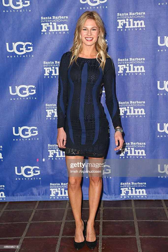 Model Caitlin Manley attends the presentation of the Outstanding Performer Of The Year Award at the Arlington Theatre during the 29th Santa Barbara International Film Festival on February 1, 2014 in Santa Barbara, California.