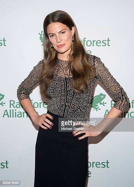 Model Cameron Russell attands the 2016 Rainforest Alliance Gala at The American Museum of Natural History on May 11 2016 in New York City
