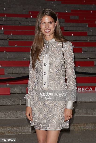 Model Cameron Russell attends the 2015 Tribeca Film Festival Vanity Fair Party at State Supreme Courthouse on April 14 2015 in New York City
