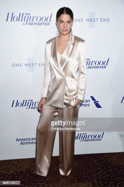 Model Cameron Russell attends The Hollywood Reporter 35 Most Powerful People In Media 2017 at The Pool on April 13 2017 in New York City
