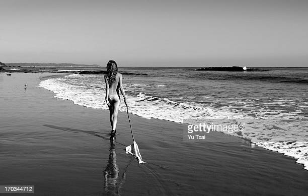 Model Cameron Russell is photographed for swimsuit company Beach Bunny on September 10 2010 in Los Angeles California PUBLISHED IMAGE