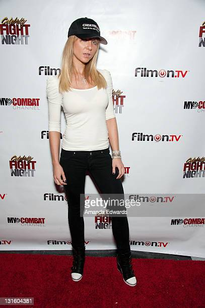 Model Cami Parker arrives at the FilmOn Celebrity Fight Night at Avalon on November 5 2011 in Hollywood California