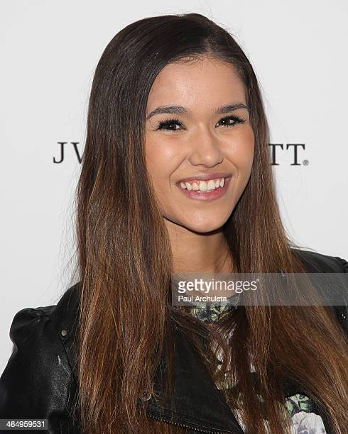 Model Camia Marie attends the KIIS 1027/ALT 987 FM preGrammy party at JW Marriott Los Angeles at LA LIVE on January 24 2014 in Los Angeles California