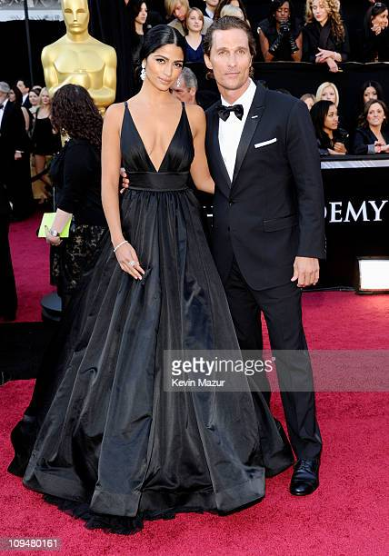 Model Camila Alves and actor Matthew McConaughey arrive at the 83rd Annual Academy Awards held at the Kodak Theatre on February 27 2011 in Hollywood...