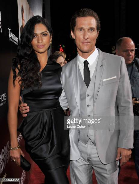 """Model Camila Alves and actor Matthew McConaughey arrive at the """"The Lincoln Lawyer"""" Los Angeles screening held at ArcLight Cinemas on March 10, 2011..."""