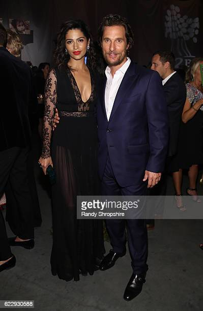 Model Camila Alves and actor Matthew McConaughey attend the Fifth Annual Baby2Baby Gala Presented By John Paul Mitchell Systems at 3LABS on November...