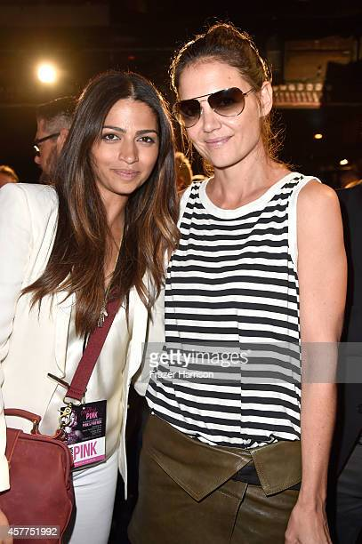 Model Camila Alves and actress Katie Holmes attend Power of Pink 2014 Benefiting the Cancer Prevention Program at Saint John's Health Center at House...