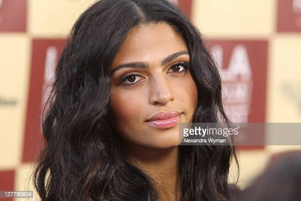 Model Camila Alves arrives at the 2011 Los Angeles Film Festival opening night premiere of Bernie held at Regal Cinemas LA Live on June 16 2011 in...
