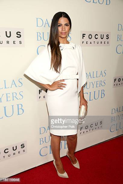Model Camila Alves attends Focus Features' 'Dallas Buyers Club' premiere at the Academy of Motion Picture Arts and Sciences on October 17 2013 in...