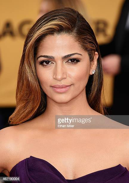 Model Camila Alves attends the 21st Annual Screen Actors Guild Awards at The Shrine Auditorium on January 25 2015 in Los Angeles California