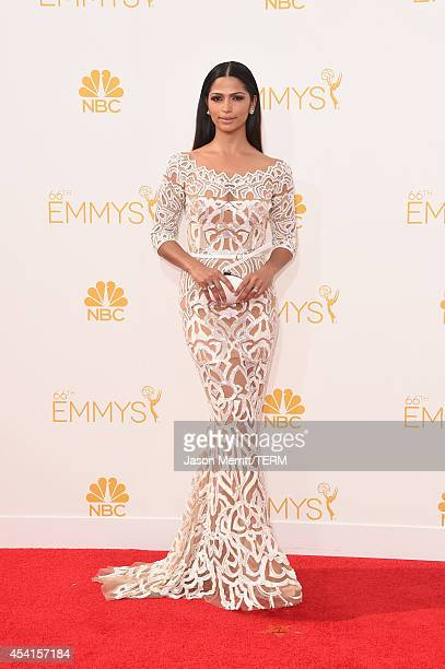 Model Camila Alves attends the 66th Annual Primetime Emmy Awards held at Nokia Theatre LA Live on August 25 2014 in Los Angeles California