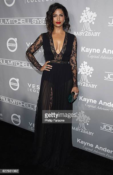 Model Camila Alves attends the Fifth Annual Baby2Baby Gala Presented By John Paul Mitchell Systems at 3LABS on November 12 2016 in Culver City...