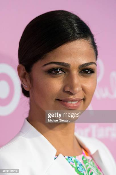 Model Camila Alves attends the Lilly Pulitzer for Target Launch at Bryant Park Grill on April 15 2015 in New York City