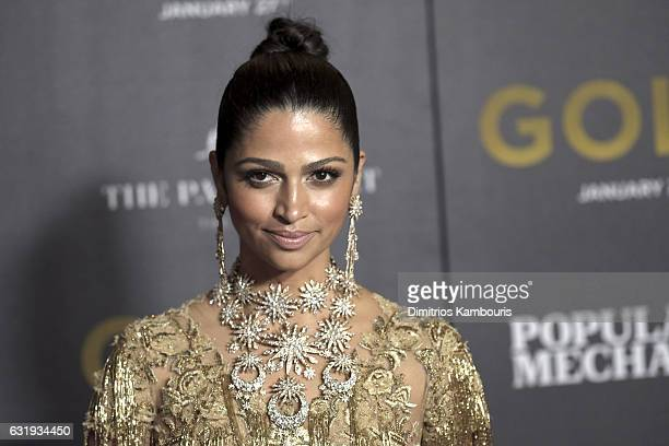 Model Camila Alves attends The World Premiere of 'Gold' hosted by TWC Dimension with Popular Mechanics The Palm Court Wild Turkey Bourbon at AMC...