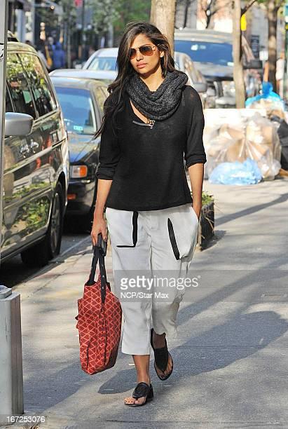 Model Camila Alves is seen on April 22 2013 in New York City