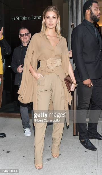 Model Camila Morrone is seen leaving Michael Kors Collection Spring 2018 Runway Show at Spring Studios on September 13 2017 in New York City