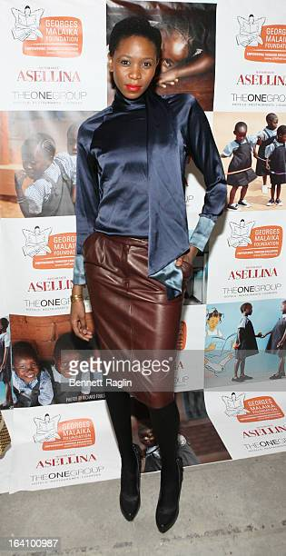 Model Camilla Barungi attends The Rise Of Congo Fundraiser at Asselina on March 19 2013 in New York City