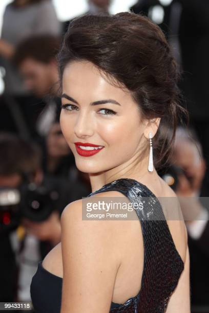 US model Camilla Belle arrives with guests for the screening of 'Wall Street Money Never Sleeps' presented out of competition at the 63rd Cannes Film...
