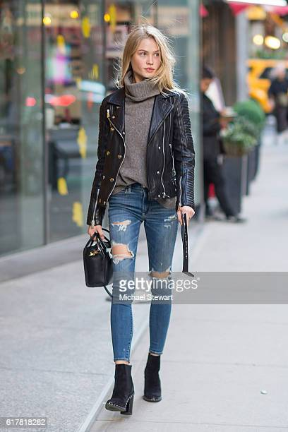 Model Camilla Christensen attends the 2016 Victoria's Secret Fashion Show call backs on October 24 2016 in New York City