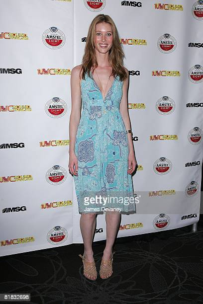 Model Camilla Thorsson attends the premiere party for MSG's new series NYC Sound Tracks at Metrazur Restaurant in Grand Central Terminal on July 1...