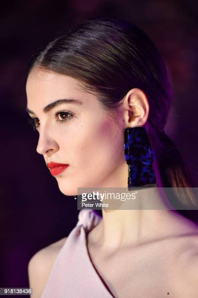 Model Camille Hurel walks the runway at Brandon Maxwell Fall Winter 2018 Collection during New York Fashion Week at Appel Room on February 11 2018 in...