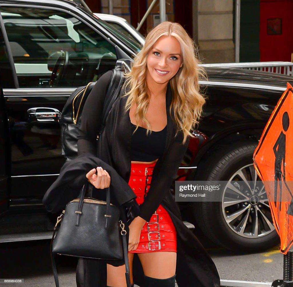 Model Camille Kostek Is Seen Walking In Soho On November 1