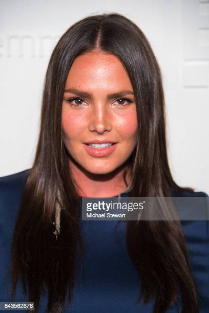 Model Candice Huffine attends ELLE E IMG host A Celebration of Personal Style NYFW Kickoff Party on September 6 2017 in New York City