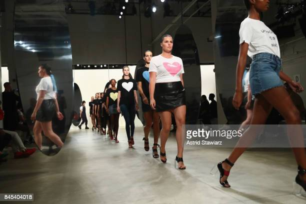 Model Candice Huffine attends Prabal Gurung fashion show during New York Fashion Week The Shows at Gallery 2 Skylight Clarkson Sq on September 10...