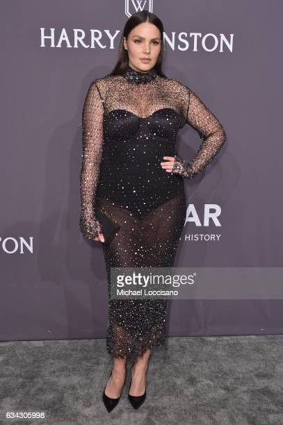 Model Candice Huffine attends the 19th Annual amfAR New York Gala at Cipriani Wall Street on February 8 2017 in New York City