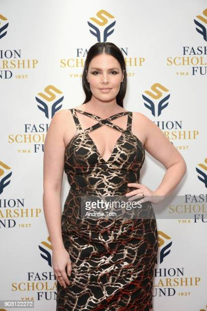 Model Candice Huffine attends the 81st Annual YMA Fashion Scholarship Fund National Merit Scholarship Awards Dinner at Marriott Marquis Times Square...