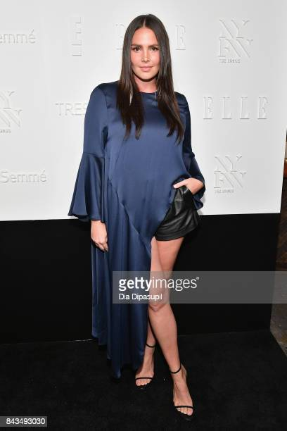 Model Candice Huffine attends the NYFW Kickoff Party A Celebration Of Personal Style hosted by E ELLE IMG and sponsored by TRESEMME on September 6...