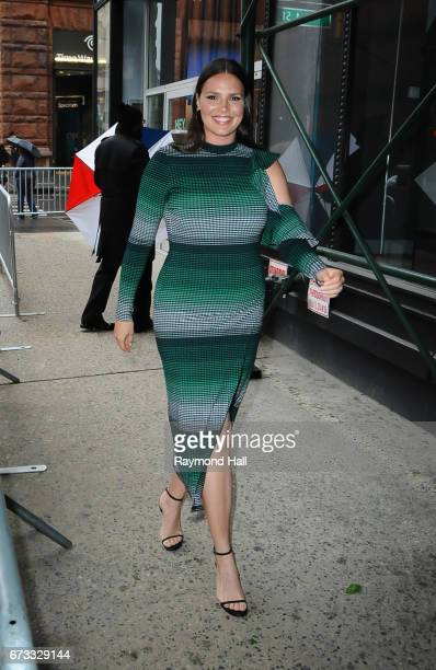 Model Candice Huffine is seen walking in Soho on April 25 2017 in New York City