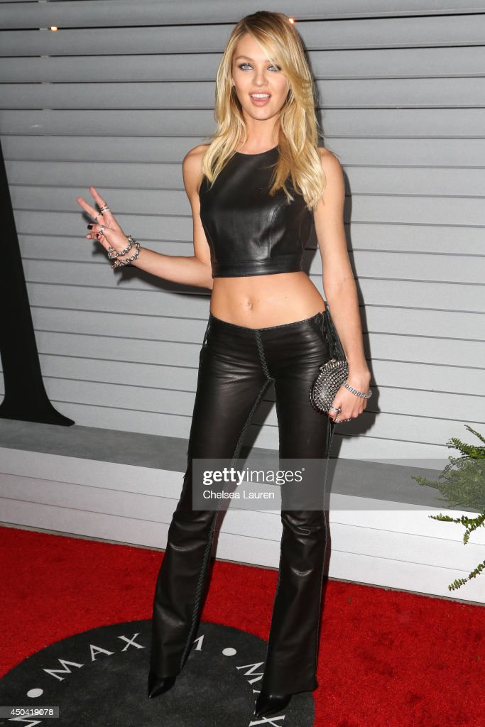 Model Candice Swanepoel arrives at Maxim Hot 100 at Pacific Design Center on June 10, 2014 in West Hollywood, California.
