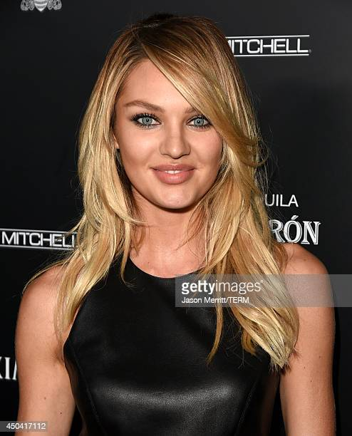 Model Candice Swanepoel attends Maxim's Hot 100 Women of 2014 celebration and sneak peek of the future of Maxim at Pacific Design Center on June 10...