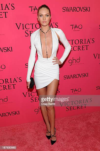 Model Candice Swanepoel attends the 2013 Victoria's Secret Fashion after party at TAO Downtown on November 13 2013 in New York City