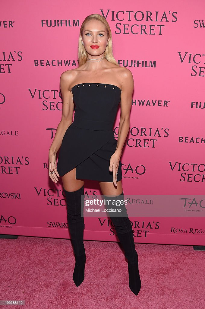Model Candice Swanepoel attends the 2015 Victoria's Secret Fashion After Party at TAO Downtown on November 10, 2015 in New York City.