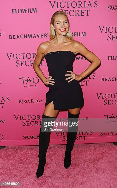 Model Candice Swanepoel attends the 2015 Victoria's Secret Fashion Show after party at TAO Downtown on November 10 2015 in New York City