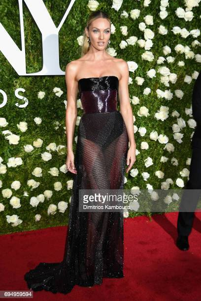 Model Candice Swanepoel attends the 2017 Tony Awards at Radio City Music Hall on June 11 2017 in New York City