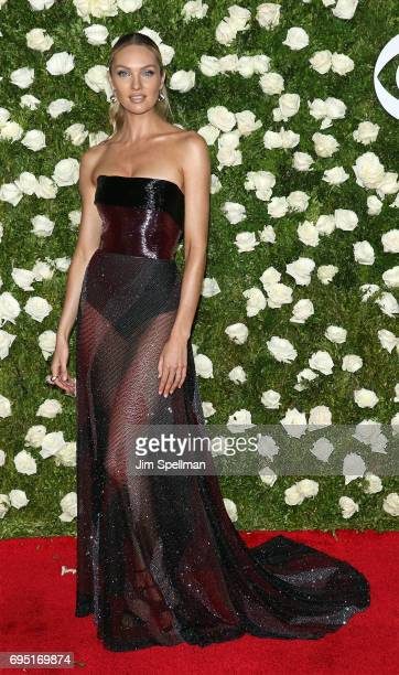 Model Candice Swanepoel attends the 71st Annual Tony Awards at Radio City Music Hall on June 11 2017 in New York City