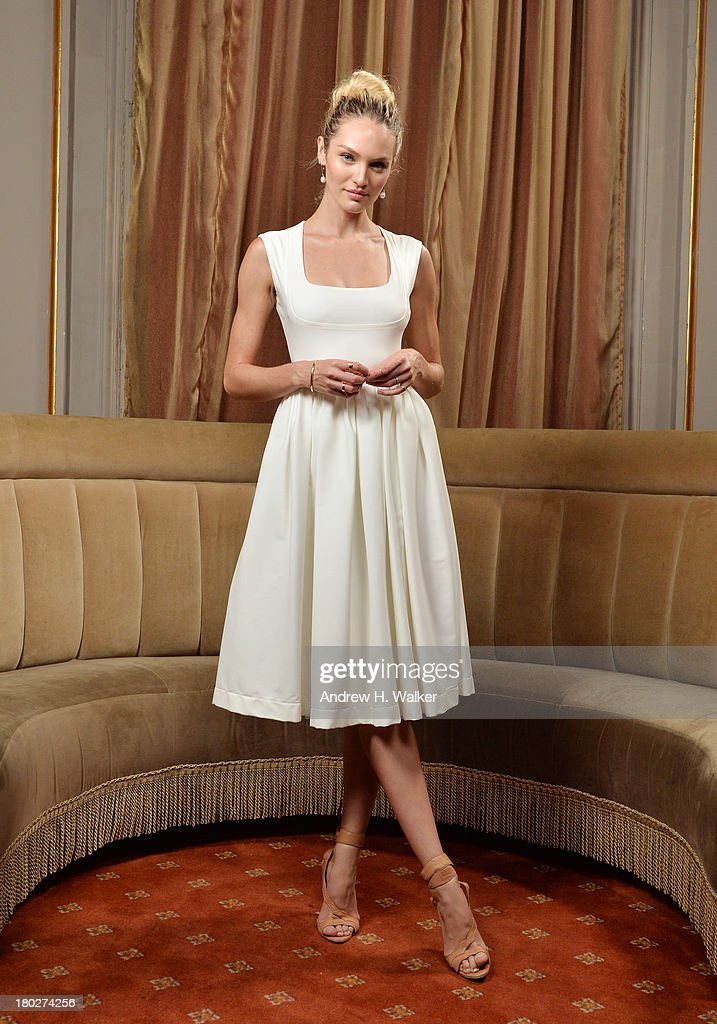 Model Candice Swanepoel attends the Novak Djokovic Foundation New York dinner at Capitale on September 10, 2013 in New York City.
