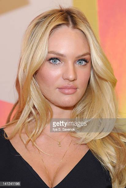 Model Candice Swanepoel attends the Victoria's Secret Very Sexy tour at Victoria's Secret Herald Square on March 13 2012 in New York City