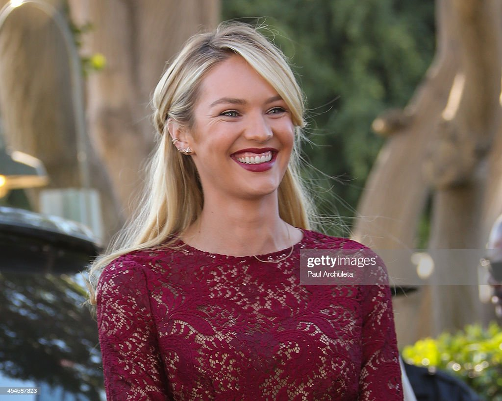 Model Candice Swanepoel is seen at Universal City Walk on December 9, 2013 in Los Angeles, California.