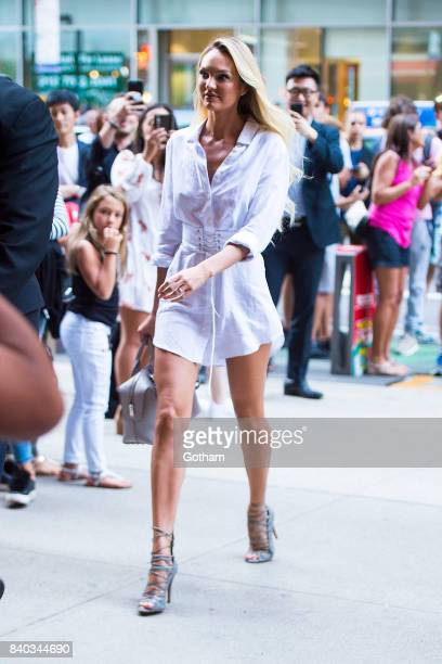 d87d13e0403 Model Candice Swanepoel is seen going to fittings for the 2017 Victoria s  Secret Fashion Show in
