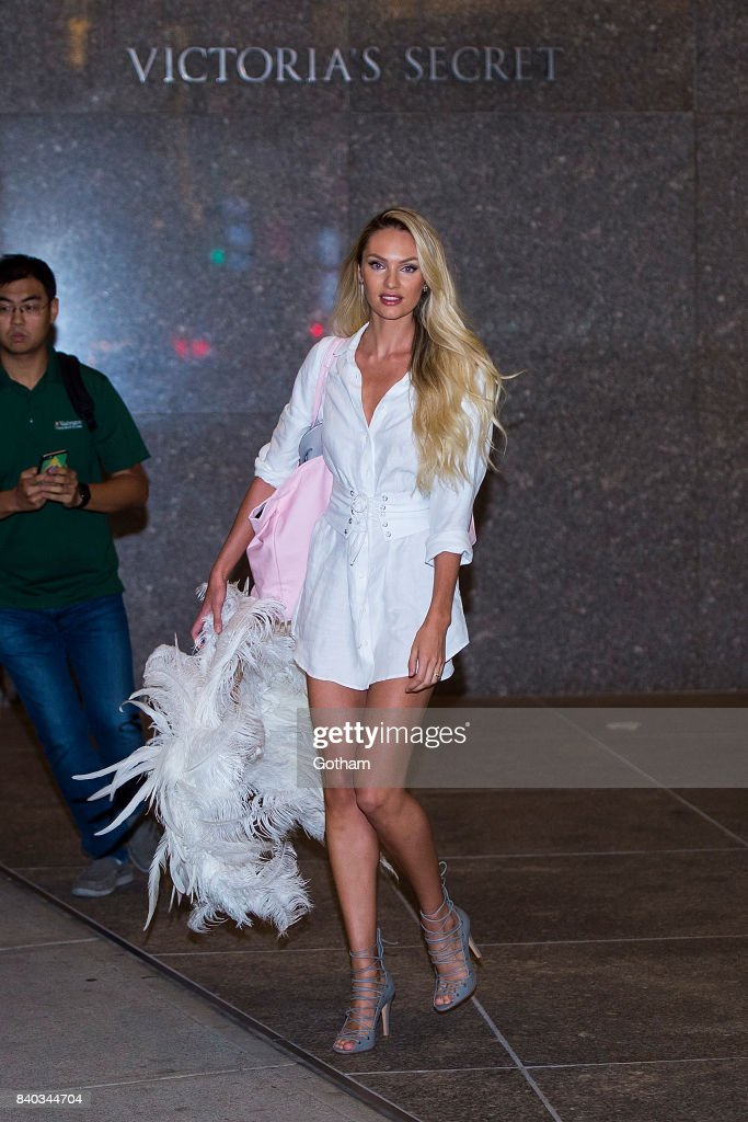 e8aa3d6b5df Model Candice Swanepoel is seen going to fittings for the 2017 ...