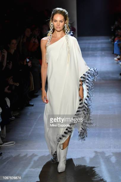 Model Candice Swanepoel walks the runway for the Prabal Gurung fashion show during New York Fashion Week: The Shows at Gallery I at Spring Studios on...
