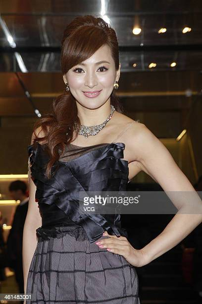 Model Candy Luo attends Miu Miu store opening ceremony on January 8 2014 in Hong Kong Hong Kong